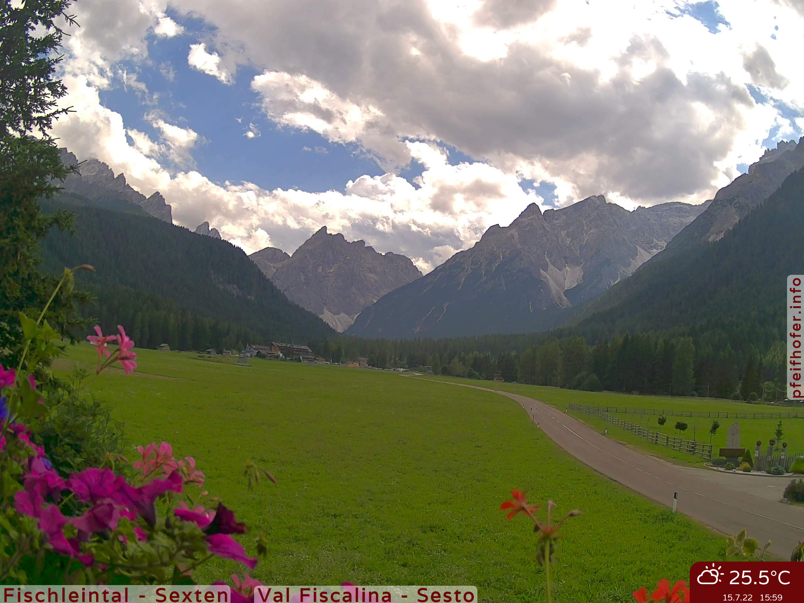 Webcam Fischleintal - Sexten - Sextner Dolomiten